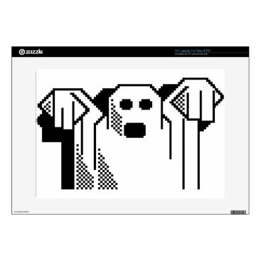 "Halloween Themed Spooky Ghost 15"" Laptop Decal"