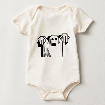 Halloween Themed Spooky Ghost Baby Bodysuit