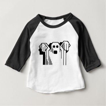 Halloween Themed Spooky Ghost Baby T-Shirt