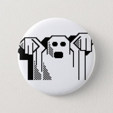 Halloween Themed Spooky Ghost Button