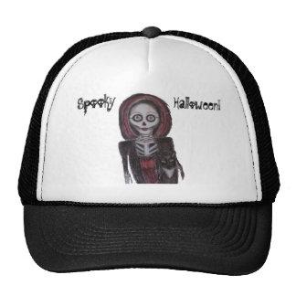 Spooky Ghost & Cat Trucker Hat