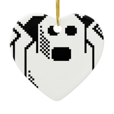Halloween Themed Spooky Ghost Ceramic Ornament