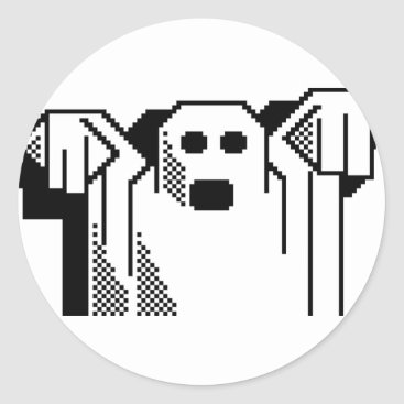 Halloween Themed Spooky Ghost Classic Round Sticker