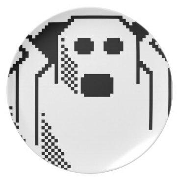 Halloween Themed Spooky Ghost Dinner Plate
