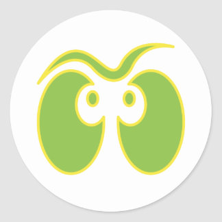 spooky ghost eyes classic round sticker