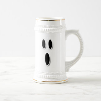 Spooky Ghost Face Frosted Halloween Beer Stein