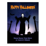 Spooky Ghost Graveyard Pumpkin Halloween Party Post Cards