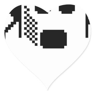 Halloween Themed Spooky Ghost Heart Sticker
