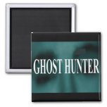 Spooky Ghost Hunter 2 Inch Square Magnet