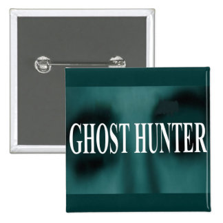 Spooky Ghost Hunter Pinback Button