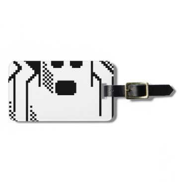 Halloween Themed Spooky Ghost Luggage Tag