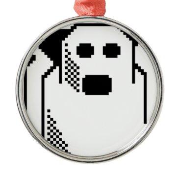 Halloween Themed Spooky Ghost Metal Ornament