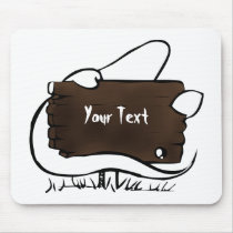 spooky ghost mouse pad