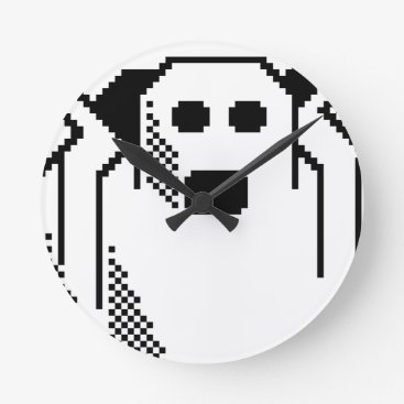 Halloween Themed Spooky Ghost Round Clock