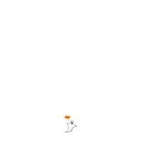 Spooky ghost saying Boo! Halloween novelty tie