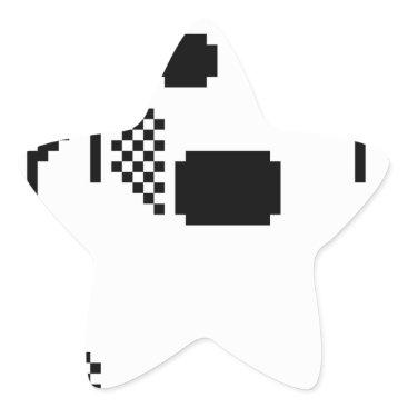 Halloween Themed Spooky Ghost Star Sticker