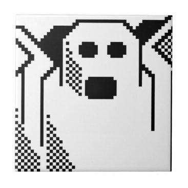Halloween Themed Spooky Ghost Tile