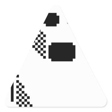 Halloween Themed Spooky Ghost Triangle Sticker