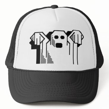 Halloween Themed Spooky Ghost Trucker Hat