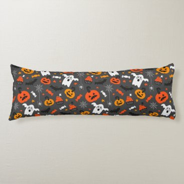 Halloween Themed Spooky Ghosts and pumpkins Body Pillow
