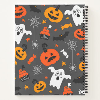 Spooky Ghosts and pumpkins Notebook