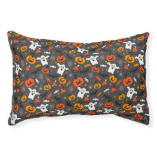 Spooky Ghosts and pumpkins Pet Bed