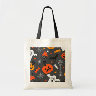 Spooky Ghosts and pumpkins Tote Bag