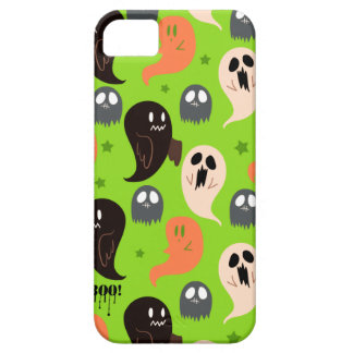 Spooky Ghosts Green Pattern iPhone 5 Case