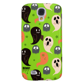 Spooky Ghosts Green Pattern Samsung Galaxy S4 Cases