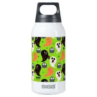 Spooky Ghosts Green Pattern 10 Oz Insulated SIGG Thermos Water Bottle