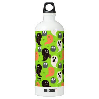 Spooky Ghosts Green Pattern SIGG Traveler 1.0L Water Bottle