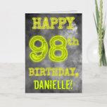 "[ Thumbnail: Spooky Glowing Aura Look ""Happy 98th Birthday"" Card ]"