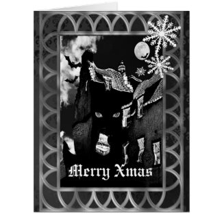 Spooky gothic black Christmas Card