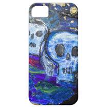 Spooky Gothic Skull Mixed Media Art Phone Case