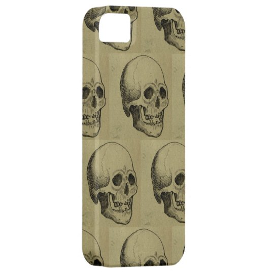 Spooky Gothic Skulls Pattern Halloween iPhone SE/5/5s Case