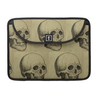 Spooky Gothic Skulls Pattern Halloween Sleeve For MacBook Pro