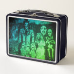 """Spooky Graffiti Colorized from Morbid by Nature Metal Lunch Box<br><div class=""""desc"""">These lunch boxes are not only great for bringing your lunch in gothic morbid style,  can also be used for a purse or storage. Some really spooky graffiti artwork photographed from a underground bunker in New Hampshire. Great gift for your urban explorer friends.</div>"""