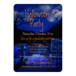 Spooky Graveyard Halloween Party Invitations