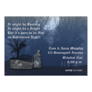Spooky Graveyard Invitation