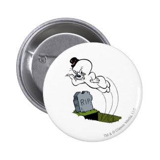 Spooky Graveyard Pinback Button