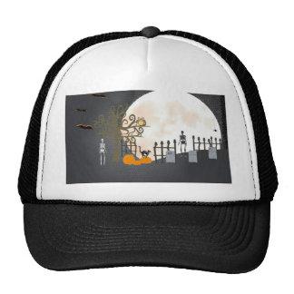 Spooky Graveyard Trucker Hat