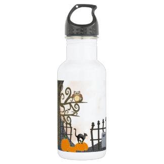 Spooky Graveyard Water Bottle