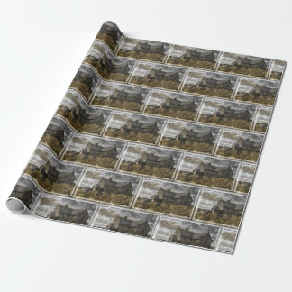 Spooky graveyard wrapping paper