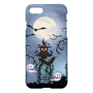 Spooky Graveyards Halloween Owl By The Fool Moon iPhone 8/7 Case