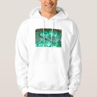 Spooky grey and green petals hoodies