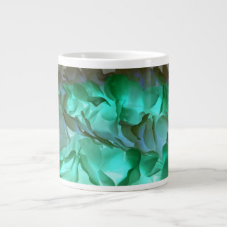 Spooky grey and green petals large coffee mug