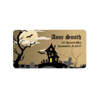 Spooky Halloween Address Labels