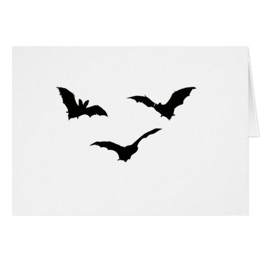 Spooky Halloween Bats Flying! Greeting Card
