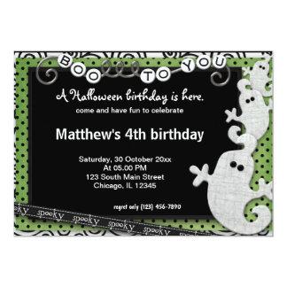 Spooky Halloween Birthday Announcements
