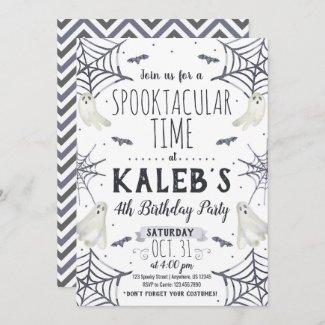 Spooky Halloween Birthday Invitation